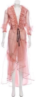 Johanna Ortiz Tamarindo Sheer Ruffled Dress