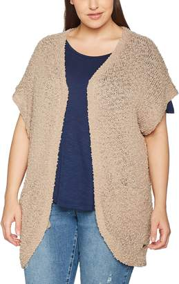 Sheego Women's 772757 Jacket Beige softtaupe UK 14