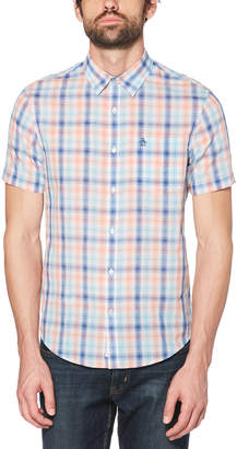 Original Penguin OMBRE PLAID LAWN SHIRT