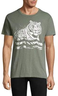 Sol Angeles Tiger Wave Print T-Shirt