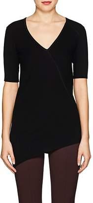 Helmut Lang Women's Rib-Knit Cotton Asymmetric Top