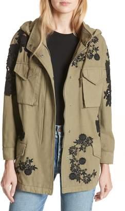 Alice + Olivia Meta Embroidered Utility Jacket