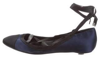 Chanel Satin Cap-Toe Flats