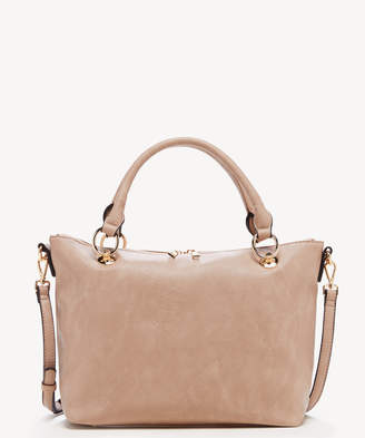Sole Society Women's Helena Satchel Vegan Leather In Color: Taupe Bag From