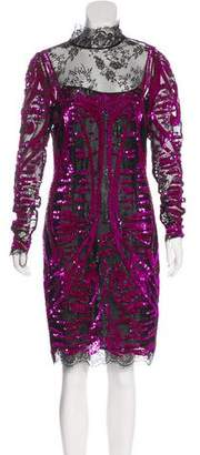 Emilio Pucci Sequined Knee-Length Dress