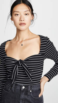 MinkPink Morgan Stripe Ribbed Top