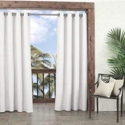 Parasol Key Largo 84-Inch Grommet Indoor/Outdoor Window Curtain Panel in White