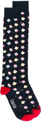 fe-fe watches patterned socks