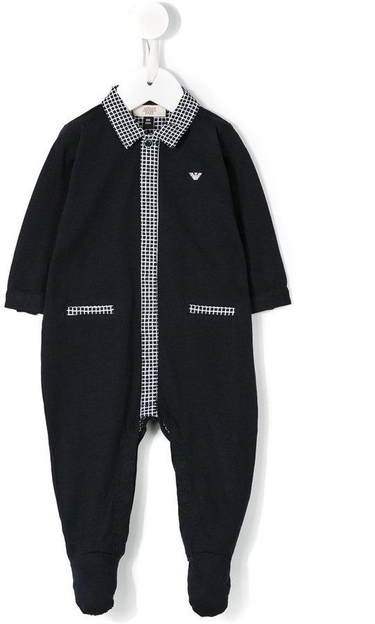 Armani JuniorArmani Junior checked details pyjama
