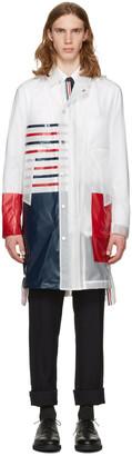 Thom Browne Transparent Stripe Rain Coat $1,495 thestylecure.com