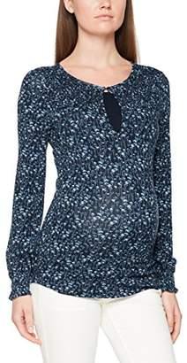 328c0d3d9 Esprit Women s T-Shirt Nursing ls AOP Maternity Long Sleeve Top Night Blue  486