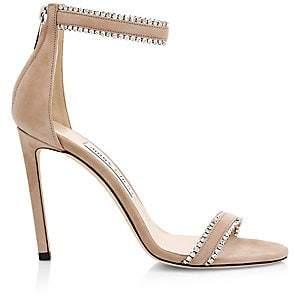 2535ff3365e Jimmy Choo Women s Dochas Embellished-Trim Leather Slingback Sandals
