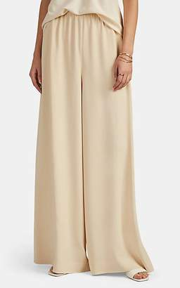 The Row Women's Pavel Stretch-Cady Wide-Leg Trousers - Butter