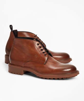 Brooks Brothers 1818 Footwear Lug-Sole Leather Chukka Boots