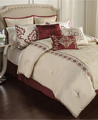 cal euro pin pillows liz bedding lizclaiborne king sets claiborne kourtney pcs set comforter