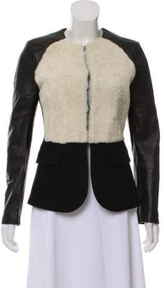 Neil Barrett Wool Leather-Trimmed Jacket