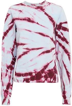 Proenza Schouler Pswl Tie-Dyed Shrunken Sweatshirt