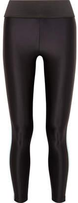 Koral Tone Striped Stretch Leggings - Black