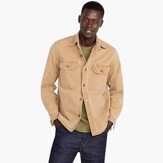 Wallace & Barnes shirt-jacket in stretch duck canvas