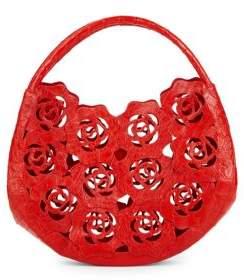 Nancy Gonzalez Leather Rose Cut-Out Bag