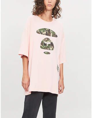 Aape Camo logo-print cotton-jersey T-shirt