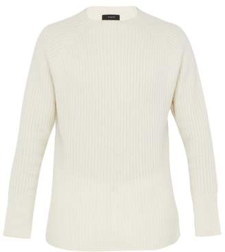 Joseph Ribbed Wool Sweater - Mens - Cream