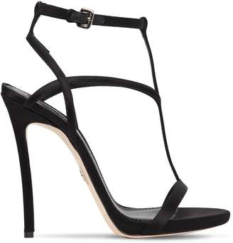 DSQUARED2 120mm Satin T-Strap Sandals