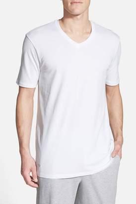 Lacoste Pique V-Neck Sleep Tee $42 thestylecure.com