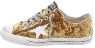 Golden Goose Felted-Wool Superstar Low-Top Sneakers