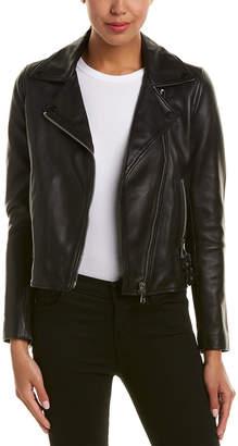 Reiss Ally Leather Biker Jacket