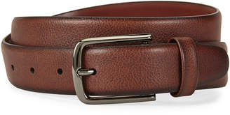 Perry Ellis Portfolio Brown Pebbled Leather Belt