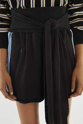3.1 Phillip Lim French-Terry Tie-Front Short
