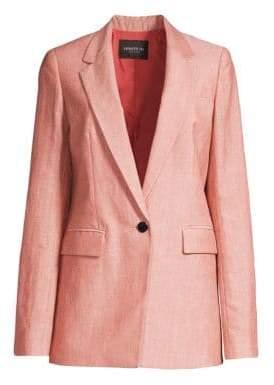 Lafayette 148 New York Rhoda Linen& Wool Blazer