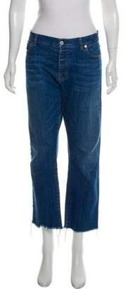 Nili Lotan Mid-Rise Straight Jeans