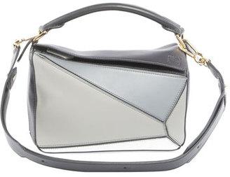 Puzzle Small Satchel Bag, Gray