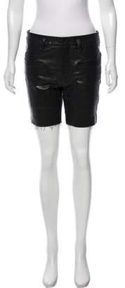 Haider Ackermann Leather Mini Shorts