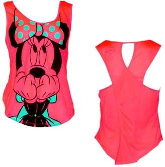 Disney Disney's Teen/Junior Fashion Tank Top Scared Minnie Mouse, XL