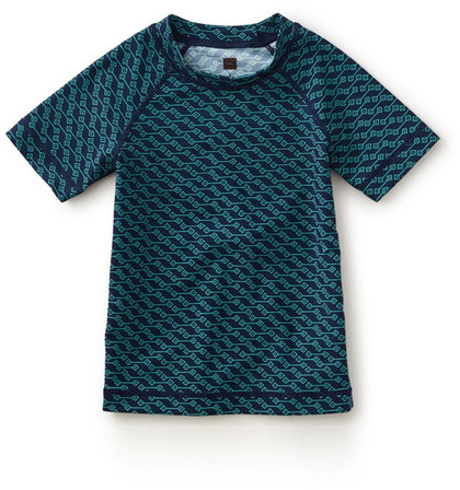 Tea Collection Mare Blu Geo Print Rashguard (Little Boys & Big Boys)