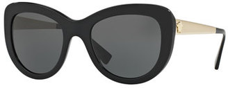 Versace Monochromatic Butterfly Sunglasses, Black $240 thestylecure.com