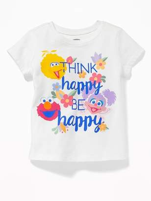 "Old Navy Sesame Street® ""Think Happy, Be Happy"" Tee for Toddler Girls"