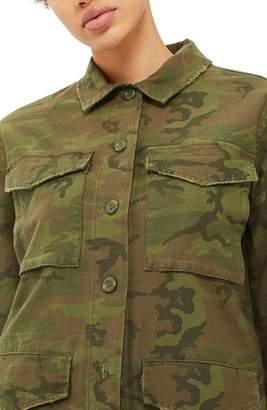 Topshop Stanley Camo Shirt Jacket