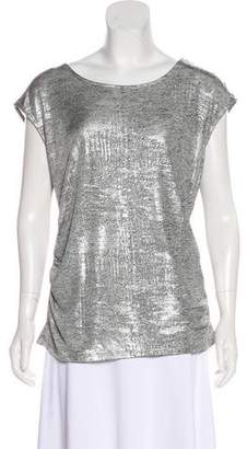 Calvin Klein Metallic Jersey Sleeveless Top
