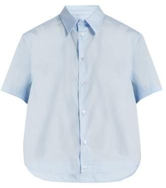 Raf Simons Short Sleeved Cotton Shirt - Womens - Light Blue