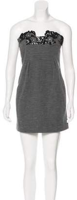 Sonia Rykiel Wool Strapless Mini Dress
