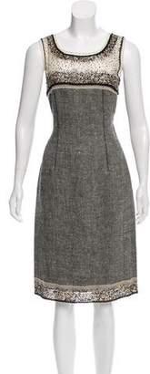 Alberta Ferretti Sleeveless Embellished Midi Dress