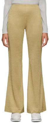 Acne Studios Beige Lurex Emi Trousers