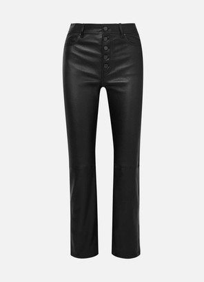 Joseph Den Stretch-leather Straight-leg Pants - Black