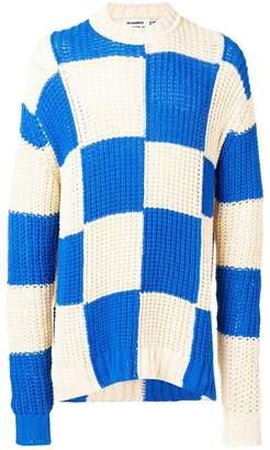 Jil Sander checked knit jumper