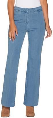 Isaac Mizrahi Live! Petite 24/7 Denim Boot Cut Fly Front Jeans