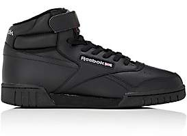 Reebok Men's Ex-O-Fit Leather Sneakers-Black